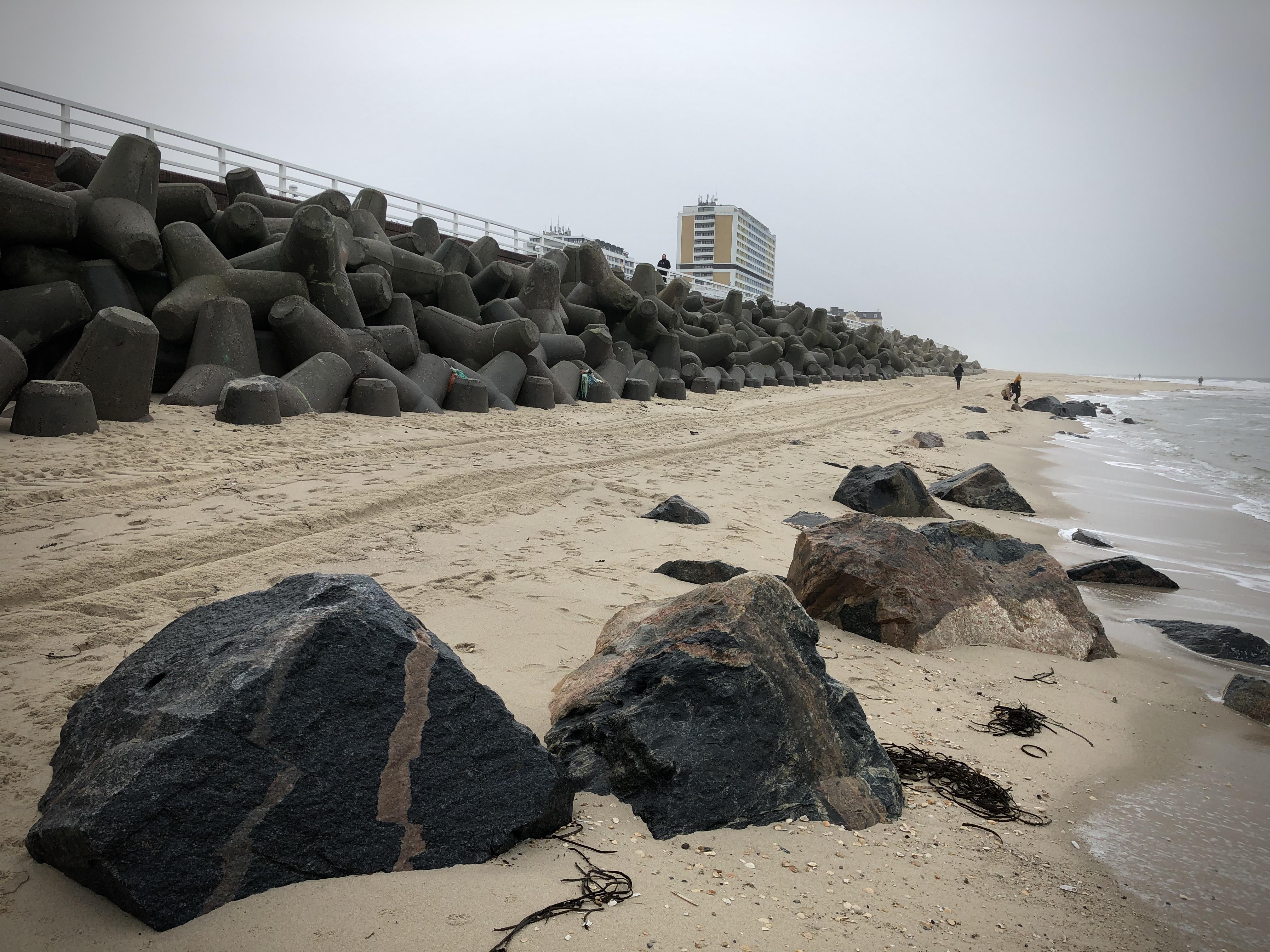 Die Sylter Strände haben in dieser Sturmsaison schon viel Sand eingebüßt
