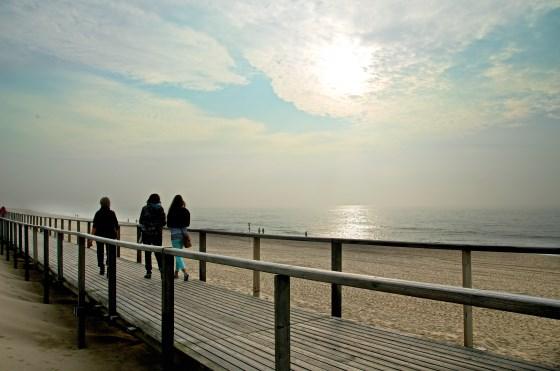 Kein Wind und keine Wellen heute am Strand