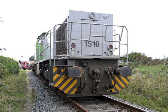 Güterzug Unfall Tinnum