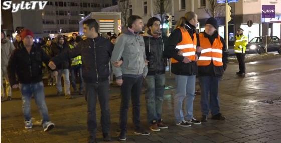 Demo für Toleranz auf Sylt