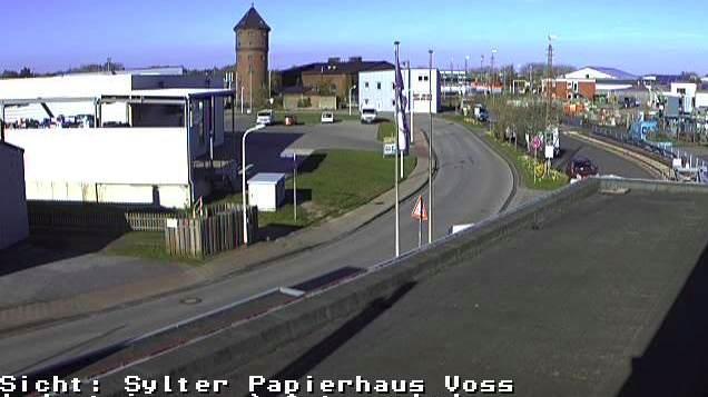 Zufahrt zur Autozug Verladestation Westerland