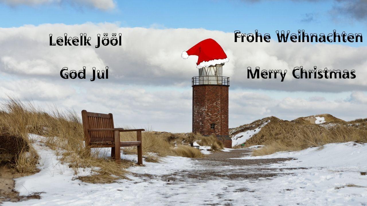Frohe Weihnachten, Lekelk Jööl, God Jul + Merry Christmas