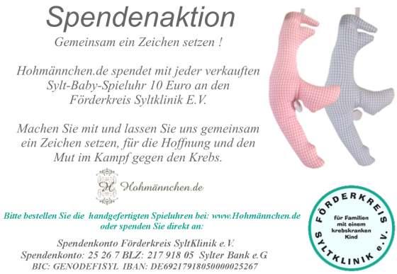 Weihnachtsaktion von Hohmännchen.de zugunsten der Syltklinik