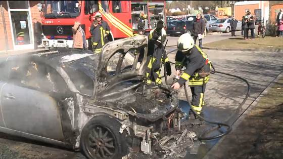 Fahrzeugbrand in Wenningstedt