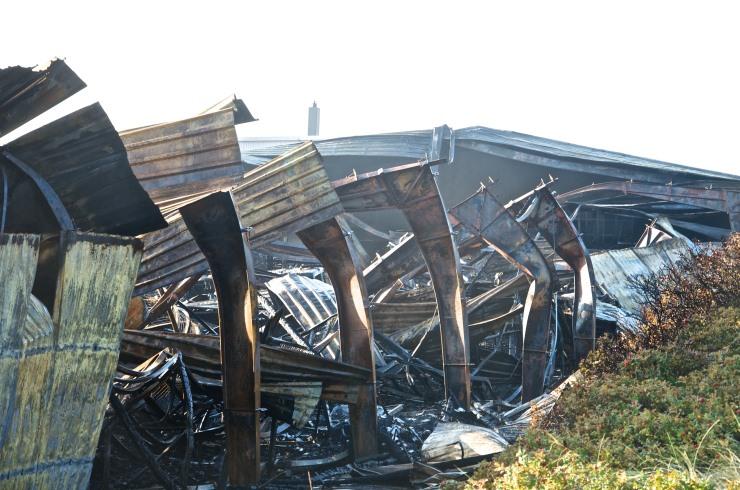 Wenningstedts Strankorbhalle nur noch eine Ruine