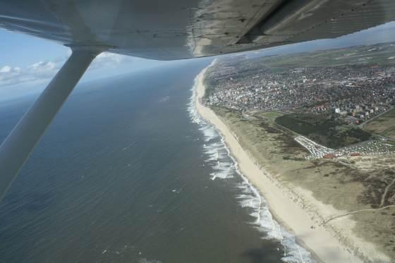 Fallschirmspringen über Sylt