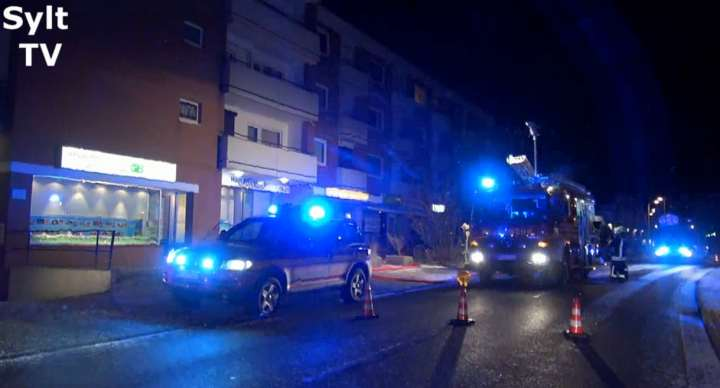 Feuerwehreinsatz Westerland in der Kjerstraße