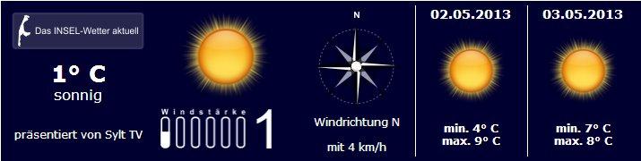 Sylt Wetter 1.Mai 2013