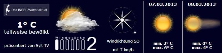 Sylt Wetter 6.-8.3.2013