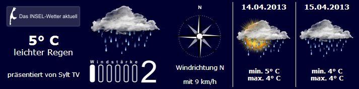 Sylt Wetter 13.April 2013