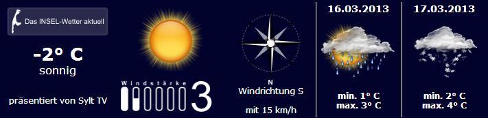 Sylt Wetter 15.März 2013