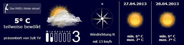 Sylt Wetter 26. April 2013