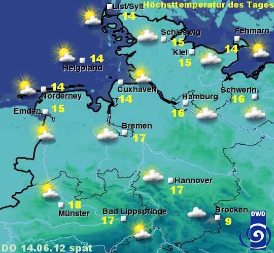 Sylt Wetter vom 14. bis 16.Juni 2012