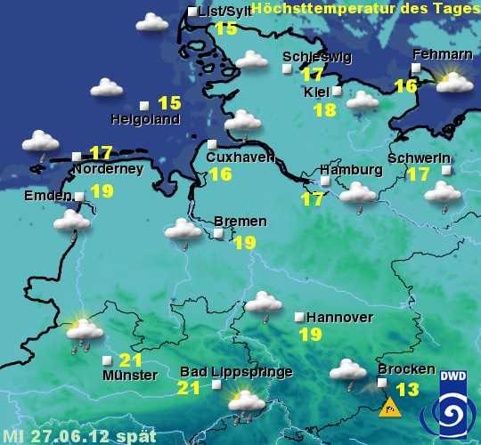 Sylt Wetter vom 27. bis 29. Juni 2012