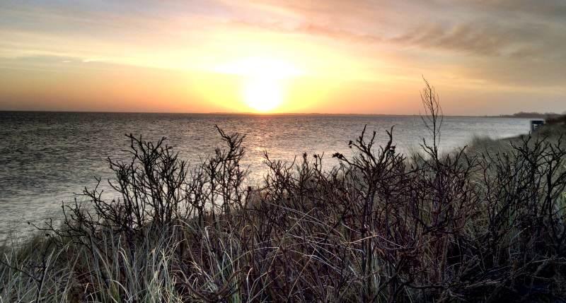 Am Montag zu Tagesbeginn auf Sylt kann die Sonne durchkommen